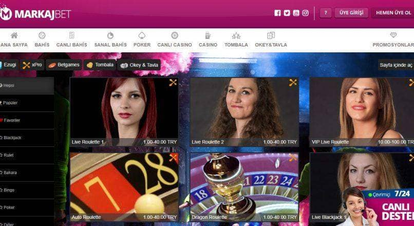 Markajbet Casino Oyunları