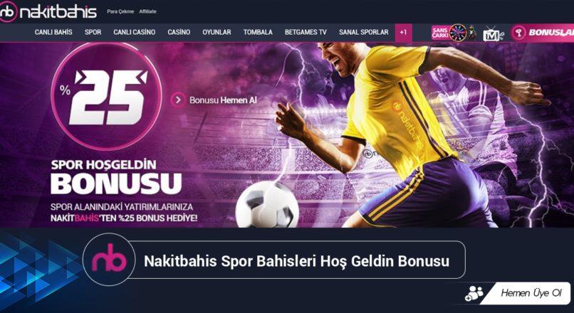 Nakitbahis Spor Bahisleri Hoş Geldin Bonusu