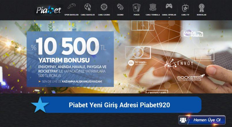 Piabet Yeni Giriş Adresi Piabet920