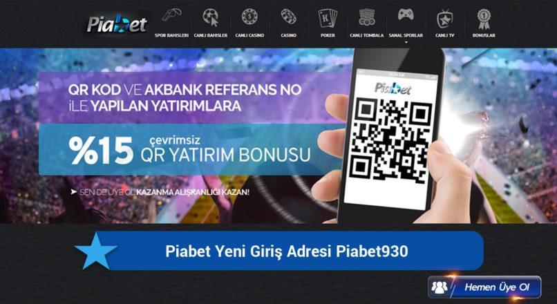 Piabet Yeni Giriş Adresi Piabet930